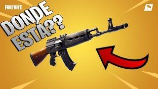 COMO encontrar la NUEVA ARMA de FORTNITE battle royale (AK 47)