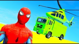 LEARN COLOR McQueen Helicopter and CARS SUPERHEROES 3D Animation for Children Kids Toddlers