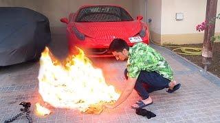 ALMOST BURNED MY FERRARI !!!