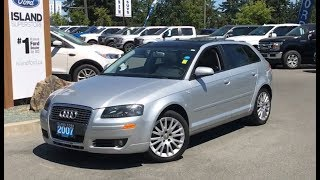 2007 Audi A3 W/ Dual Moonroof, Satellite, Leather Review| Island Ford