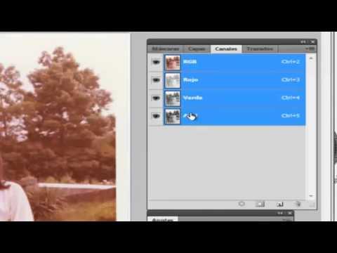 Restaurar una Antigua Foto en Color
