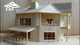 How to make a wooden model house 2016