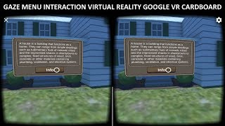 Gaze Menu Interaction Virtual Reality With Unity 2017.3 & Google VR