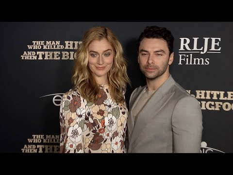 Caitlin FitzGerald and Aidan Turner