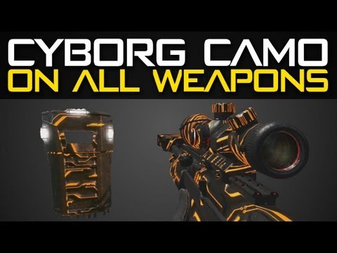 Black Ops 2 CYBORG Camo on All Weapons - Cyborg Camo