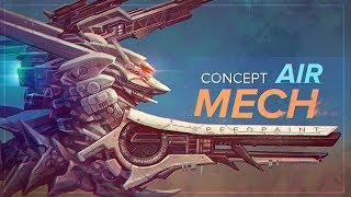 Drawing concept Airmech in photoshop | Speedpaint