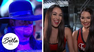 THE UNDERTAKER RETURNS! Brie and Nikki react to The Deadman's surprise on Raw