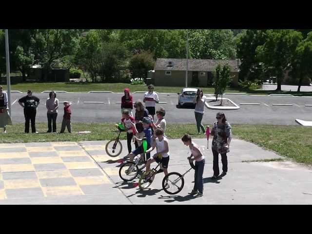 Under 13 Unicycle baton & ball race