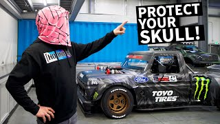 Ken Block's Brain Buckets: Five Helmets for Five Gymkhana Cars!