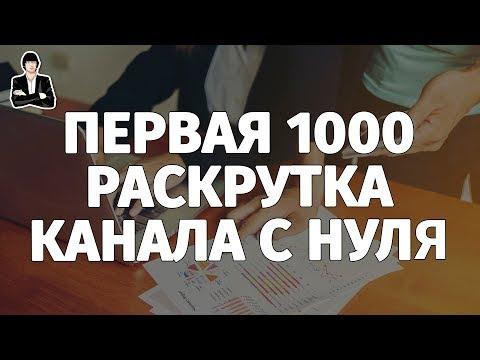 Как набрать первые 1000 подписчиков на YouTube | Как раскрутить канал с нуля