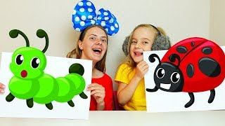 Learn Colors and Animal Names with Finger Paint Colors for Children
