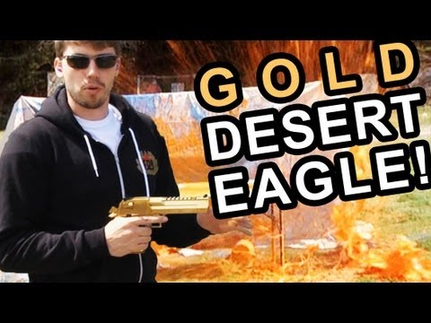 GOLD DESERT EAGLE 50 CAL