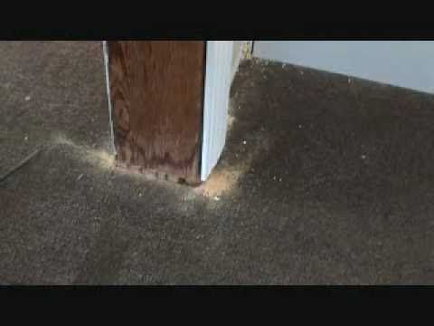 How to install laminate flooring under a door jamb how for Put a floor under