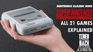 SNES Mini - all 21 games explained