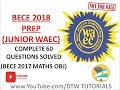 Download BECE 2018 Prep: Maths Complete 60 Questions Solved(Junior WAEC Obj) in Mp3, Mp4 and 3GP