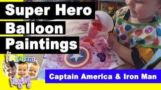 Super Hero Balloon Paintings with Iron Man and Captain America | Fun in the Kitchen Fridays Ep. 5