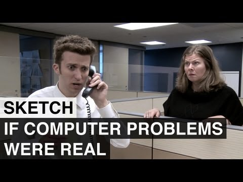 If Computer Problems Were Real - Awkward Spaceship