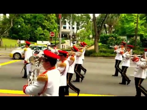 Changing of Guards Ceremony February 2016 - March down (Royal Salute)