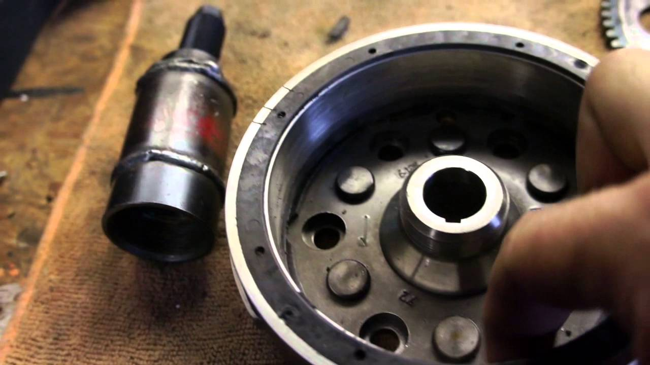 Yamaha Grizzly 660 >> Yamaha Grizzly 660 starter clutch screw up - YouTube