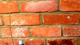 brick pointing  .old  wall   deep  joints, Rough neck  mortar  gun,  Tips Part 2