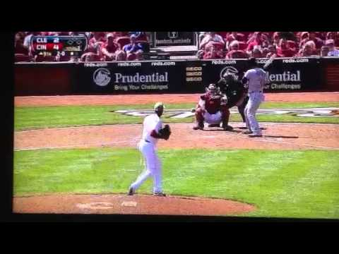 Aroldis Chapman throws at Nick Swisher