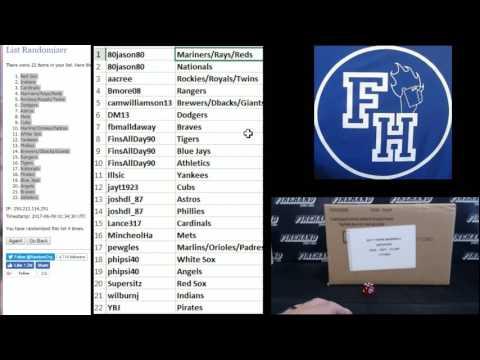 Team Draw ~ 2017 Topps Archives Baseball 10 Box Case Break Random Teams #2 ~ 6/8/17