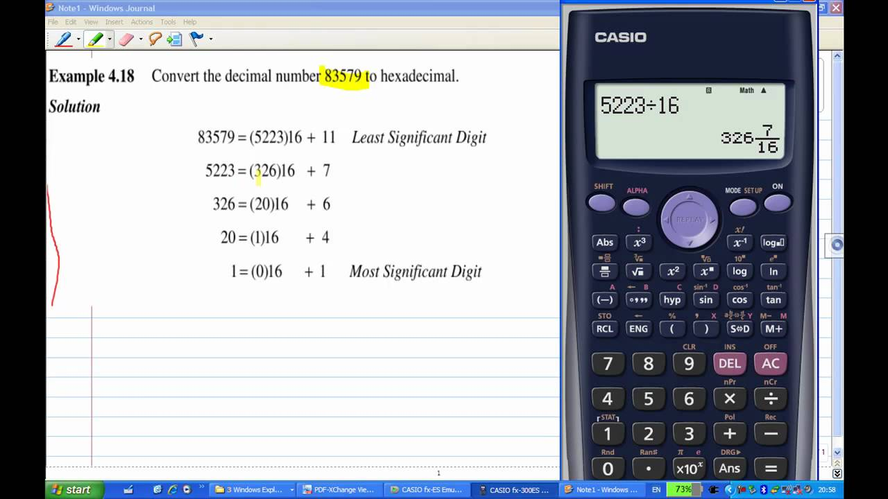 Convert Decimal To Hexadecimal By Calculator Without Base