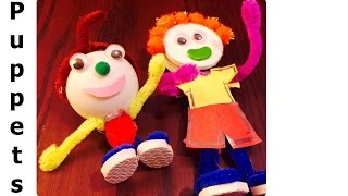 How to Make Small TABLE Puppets & Small Toys - Kukla & Oyuncak
