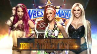 WWE Bayley vs Sasha banks vs Charlotte flair triple threat match for the wwe raw women's championshi