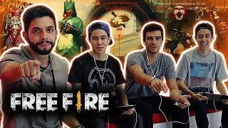 SQUAD DE FREE FIRE IMBATÍVEL? PLAYHARD ft. BELGAS E GELLI - SÓ AS LENDAS!!!