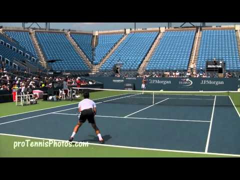 Djokovic and Ferrer, 2009 USO practice