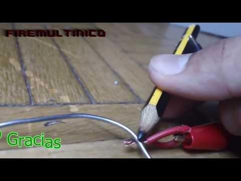 Cómo hacer un soldador casero con un lápiz | [MegaVídeo]
