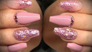 Acrylic nails - gel polish & glitter set