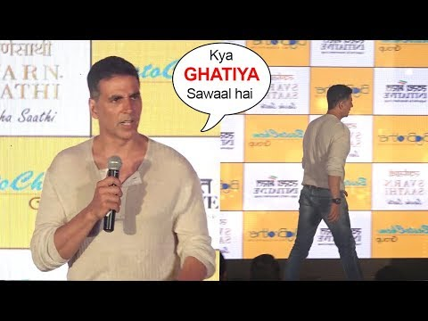 Akshay Kumar ANGRY On Reporters Embarrassing Questions & Walks Off From Stage thumbnail