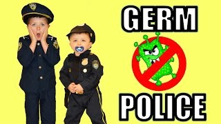 Little Heroes  The Cookies, The Sick Superheroes and The Germ Police in real life Kid Cop funny kids