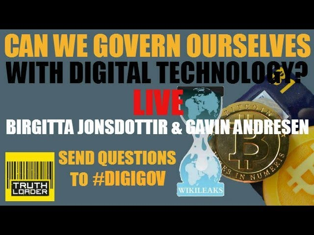 Can we govern ourselves in a digital age? A Truthloader LIVE debate with Birgitta Jónsdóttir