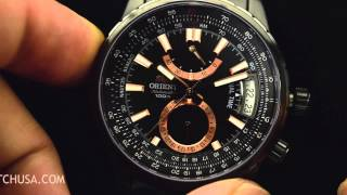Orient FDH01001B0 DH01001B Voyager GMT Dual Time Sport Watch