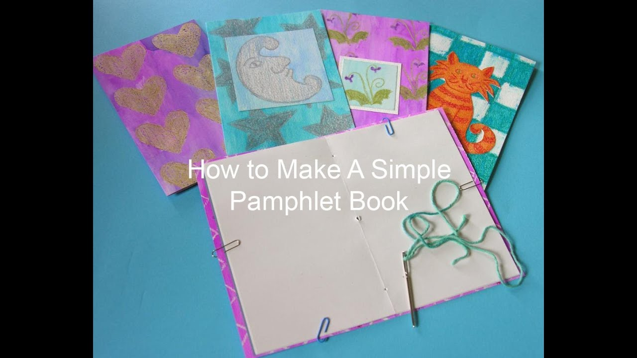 How to make a simple pamphlet book youtube for How to make a paper design