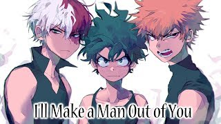 Download Lagu Nightcore - I'll Make a Man Out of You (Rock Cover) Gratis STAFABAND