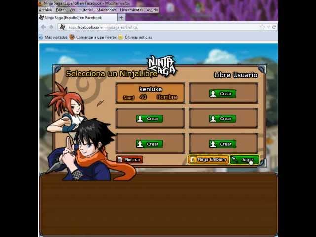 Ninja saga hack 2012 en mozila firefox no banean con fiddler 2.