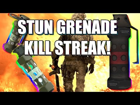 MW2 - STUN GRENADE KILL STREAK! (Modern Warfare 2 PS3)
