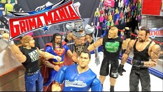 GTS WRESTLING: GRIMAMANIA! WWE Wrestlemania 32 PARODY Mattel Figure Animation PPV Event