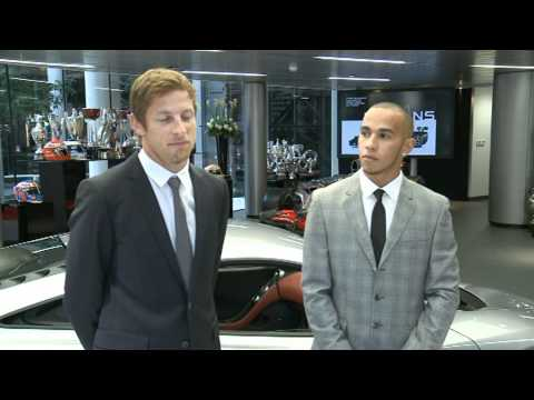 Ron Dennis, Lewis Hamilton & Jenson Button Open McLaren Flagship Showroom in London