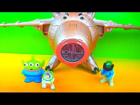 Toy Story 3 Electronic Porkchop Spaceship Vs Buzz Lightyear Evil Dr. Porkchop Pig video