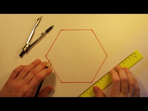 Видео как нарисовать правильный шестиугольник