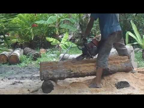 how to make a house of coconut wood