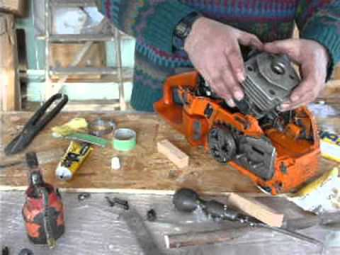 Husqvarna 357 chainsaw cylinder replacement.