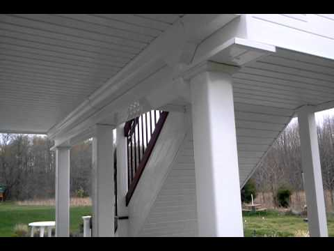 Dry space below under-mount deck ceiling system by DecksNJ.com