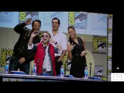 Batman V. Superman Dawn Of Justice Ben Affleck, Henry Cavill & Gal Gadot At SDCC 2014