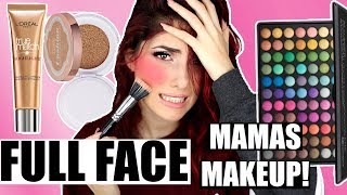 GANZES MAKEUP Mit Produkten MEINER MUTTER?! full face using my moms makeup!